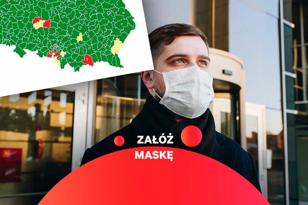 Żółte i czerwone strefy w Polsce