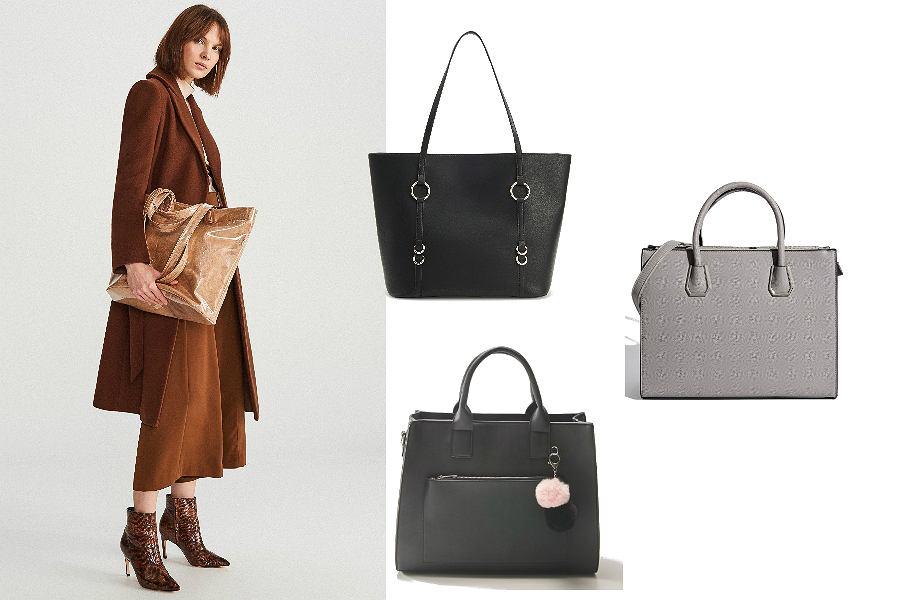 klasyczne torebki typu shopper