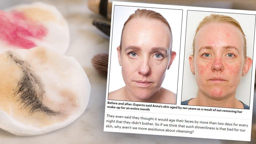 Przez 30 dni nie zmywała makijażu. Jak zmieniła się jej cera?
