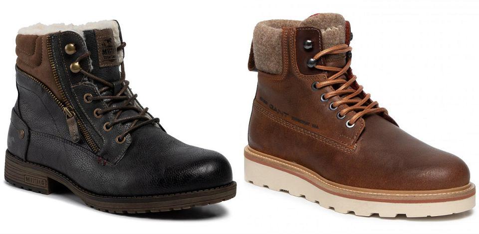 Buty zimowe męskie z futrem