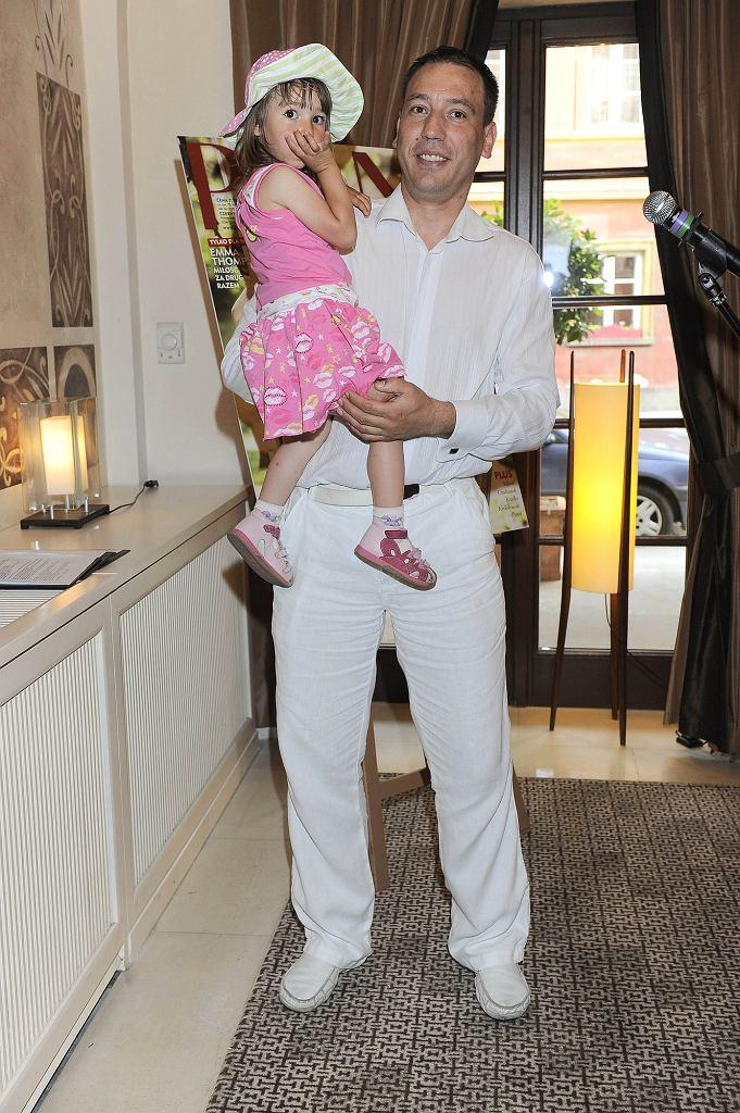 Jacek Olszewski z córką Lilianą