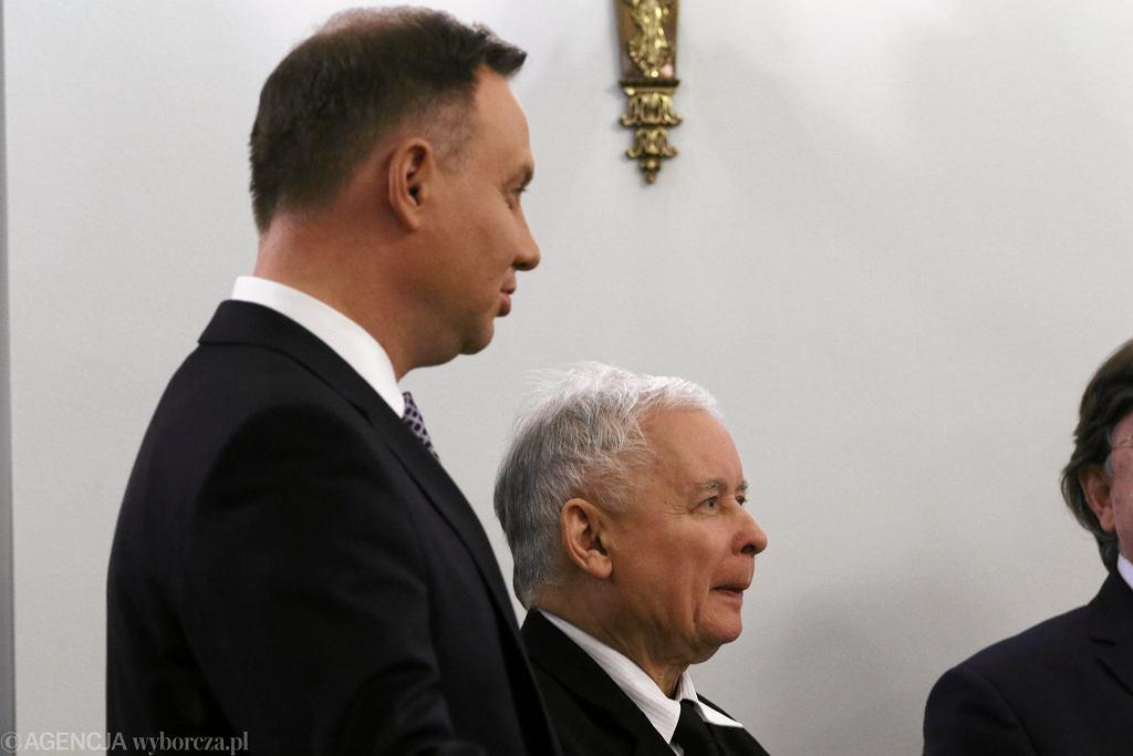 Prezydenta Andrzej Duda i prezes PiS Jarosław Kaczyński