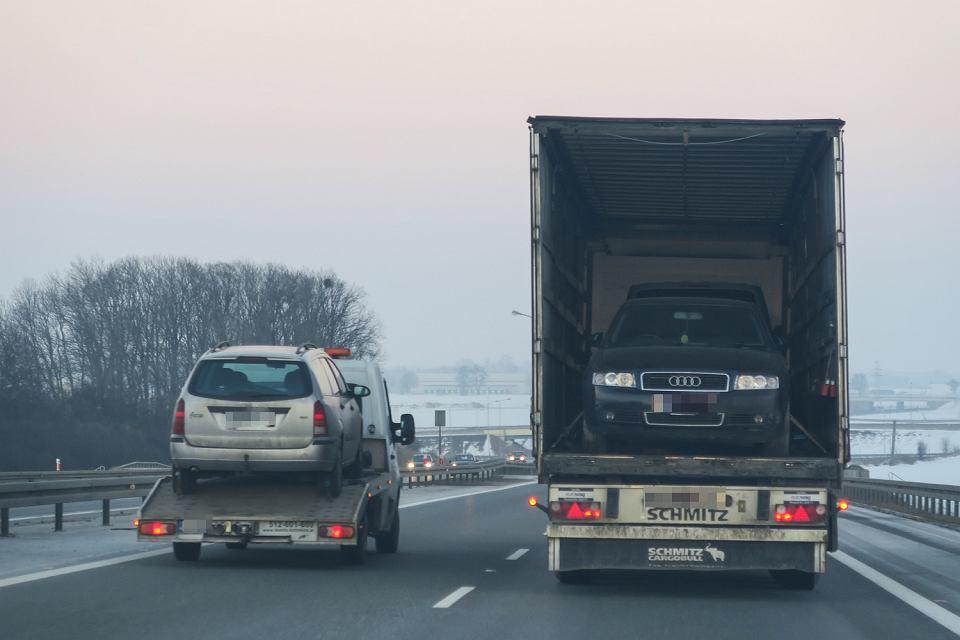 Używane auta z Niemiec - w drodze do polskiego nabywcy. A4, 29 stycznia 2017