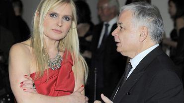 Monika Olejnik i Jarosław Kaczyński