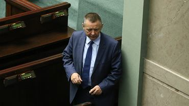 Szef NIK Marian Banaś podczas pierwszego posiedzenia Sejmu IX kadencji.