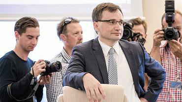 25.07.2017, Warszawa. Zbigniew Ziobro na posiedzeniu rady ministrów