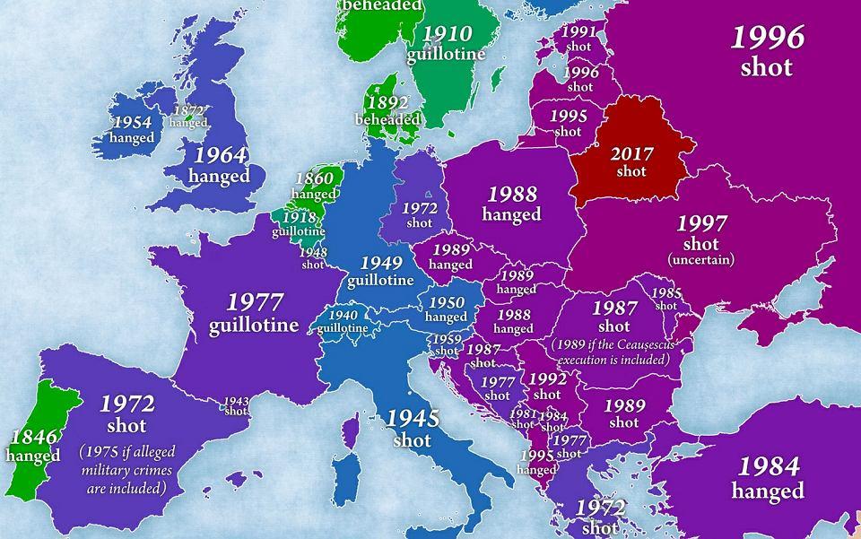 Kara Smierci W Europie Tak Kraje Rezygnowaly Z Egzekucji