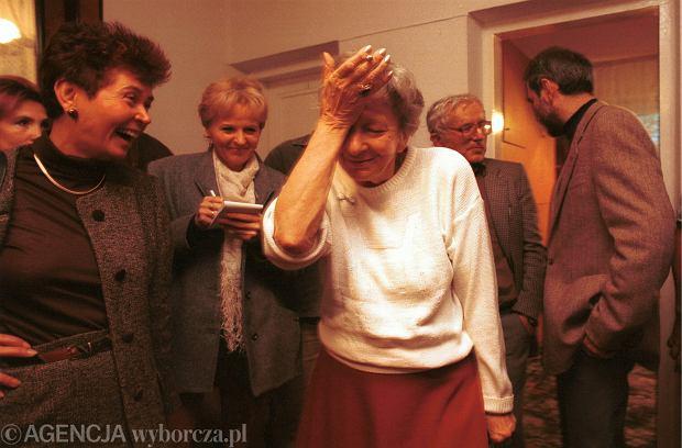 Wisława Szymborska i jej reakcja na wiadomość o odczytaniu Nobla
