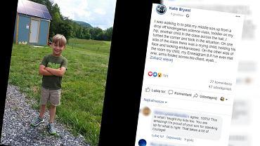 Mama obroniła syna, który uderzył innego chłopca