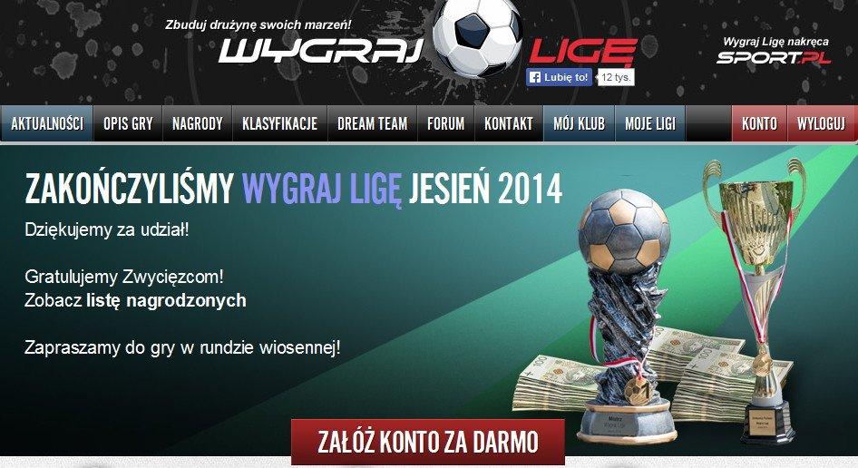 Wygraj Ligę edycja jesień 2014 zakończona