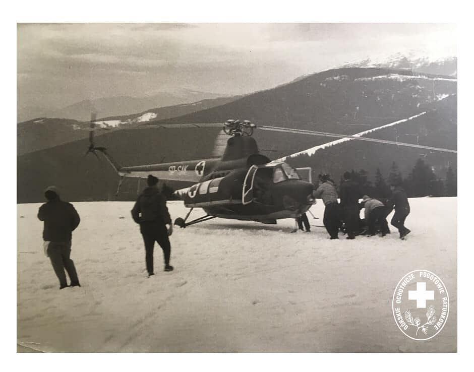 Pierwsza akcja ze śmigłowcem w Beskidach