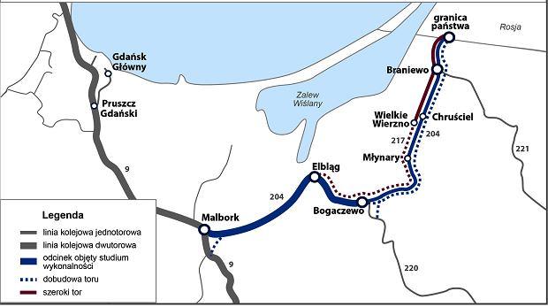 Польша планирует улучшить трассу ЖД с Калининградской областью
