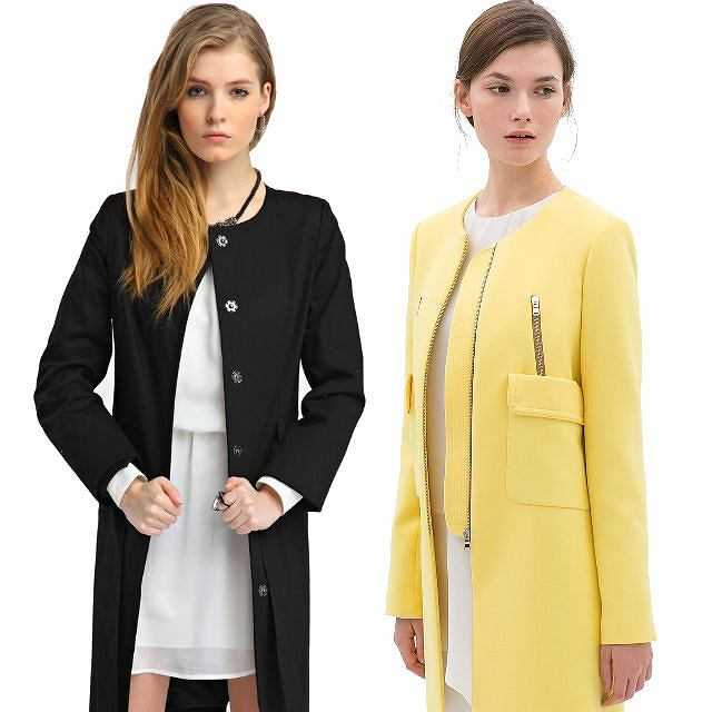 15 najpiękniejszych płaszczy bez kołnierza