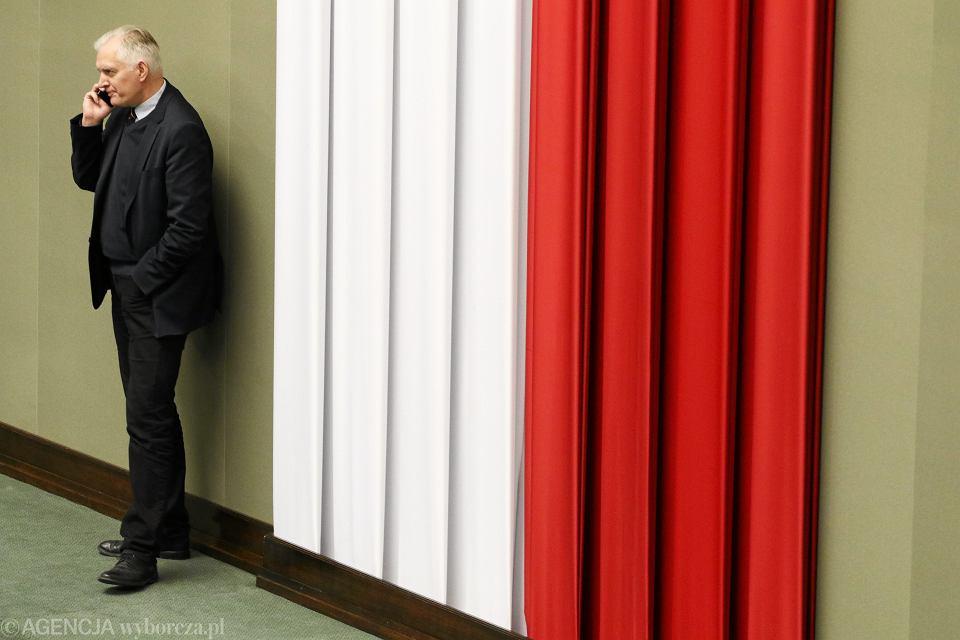 Minister szkolnictwa wyższego w rządzie PiS Jarosław Gowin podczas porannych głosowań. Sejm, 29 września 2017