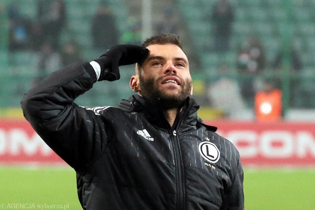 Nemanja Nikolić po meczu o mistrzostwo Ekstraklasy Legia Warszawa - Górnik Łęczna, 18 grudnia 2016.
