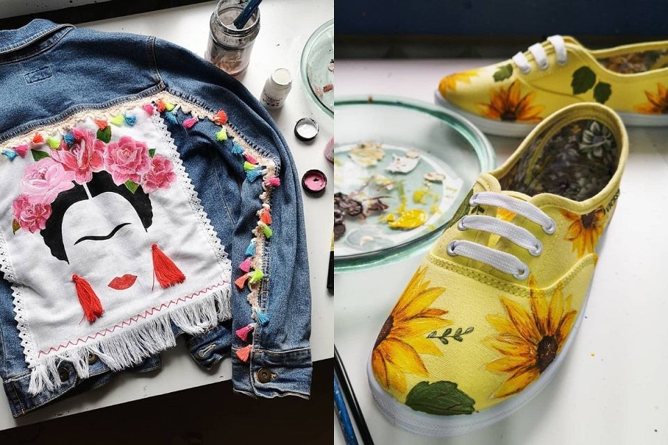 Malowanie farbami do tkanin to świetna opcja!
