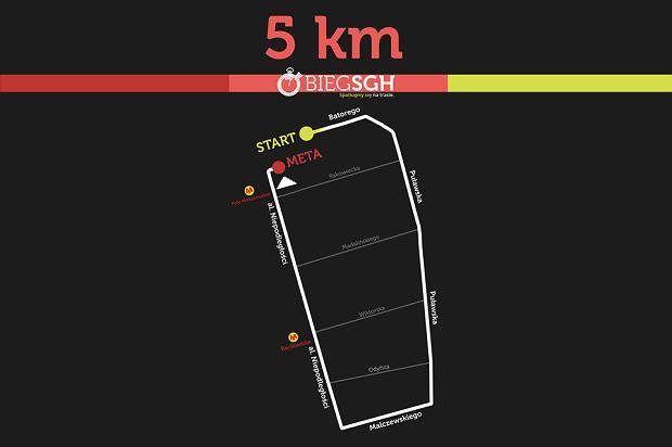Bieg SGH - trasa 5 km