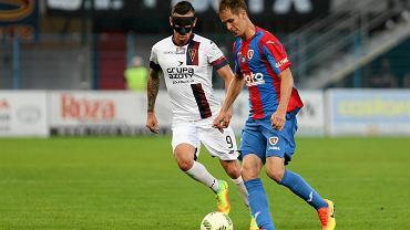 Patrik Mraz w meczu Piast Gliwice - Pogoń Szczecin 0:2