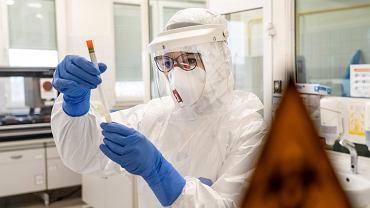 Koronawirus w Polsce. Laboratorium wykonujące testy na obecność koronawirusa. Olsztyn, 11 marca 2020