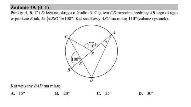 Matura poprawkowa 2016 matematyka, Zad. 19