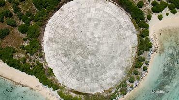 Kopuła na wyspie Runit, która skrywa radioaktywne odpady
