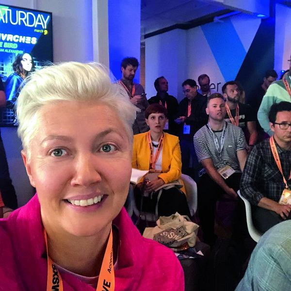 Jowita Michalska, prezeska Digital University, podczas konferencji South by Southwest