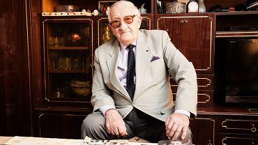 Karol Tendera, były więzień Auschwitz, zdj. z 2015 roku