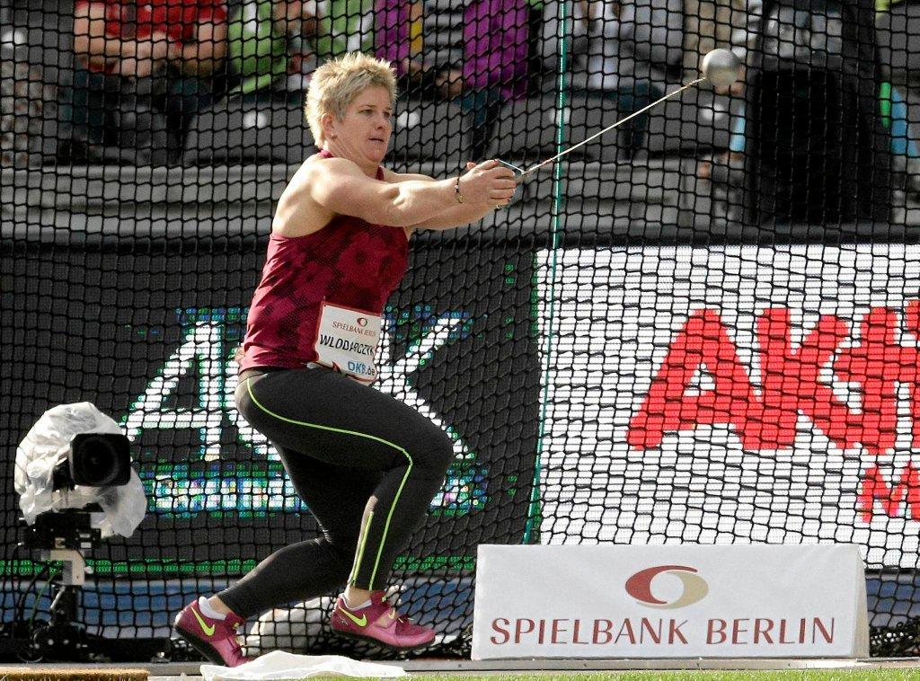 Anita Włodarczyk na mityngu w Berlinie, gdzie pobiła rekord świata