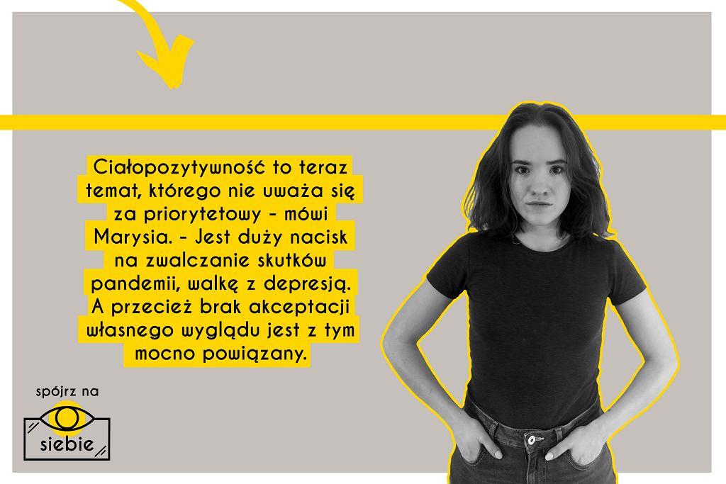 Fot. materiały ciałopozytywnej kampanii dla młodzieży 'Spójrz na Siebie'