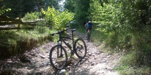 Szlak nieprzystosowany do turystyki rowerowej