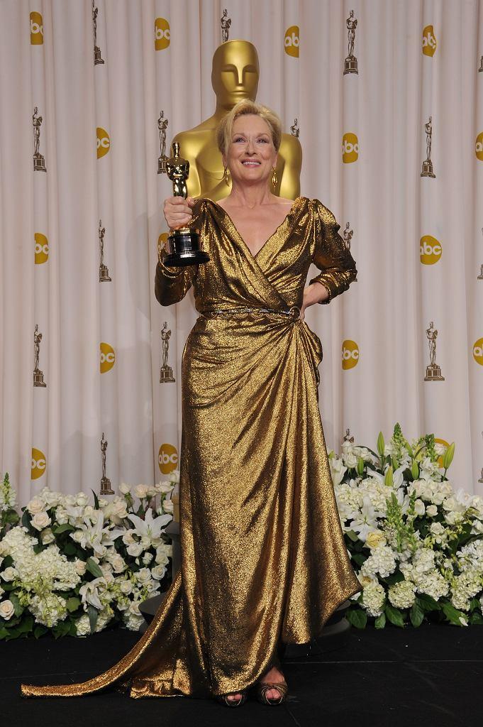 Meryl Streep odbiera Oscara w sukni Lanvin w 2012 roku