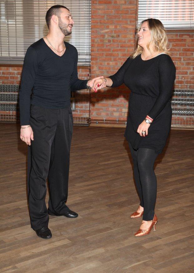 Karolina Szostak i Andrej Mosejcuk trenuja do Tanca z Gwiazdami, 02.2014, fot. WBF