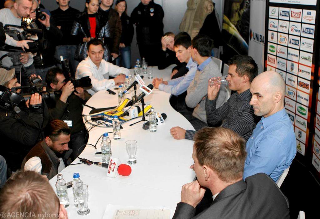 Konferencja prasowa z udziałem Tomasza Golloba