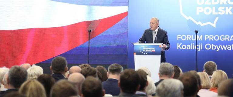 Program wyborczy Koalicji Obywatelskiej. Grzegorz Schetyna ogłosił swoją