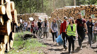 W proteście, przeciwko zamykaniu Puszczy Białowieskiej i prowadzonym cały czas wycinkom, maszerowało w sobotę około dwieście osób