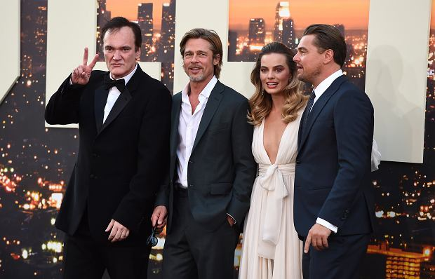 Quentin Tarantino z aktorami 'Once Upon a Time in Hollywood'