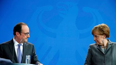 François Hollande i Angela Merkel