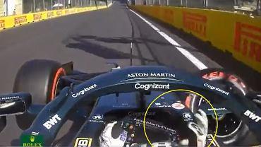 Wypadek Lance'a Strolla podczas kwalifikacji do GP Azerbejdżanu