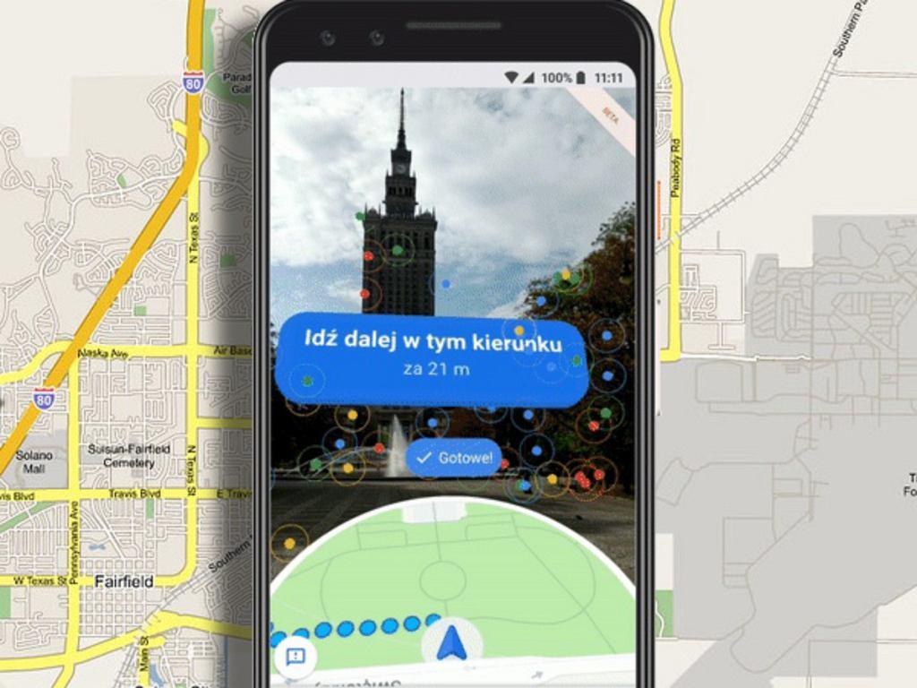 Google Maps z funkcją Live View