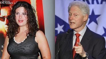 Bill Clinton podczas spotkania partii i Monica Lewinsky (zdjęcie archiwalne z 2001 roku)