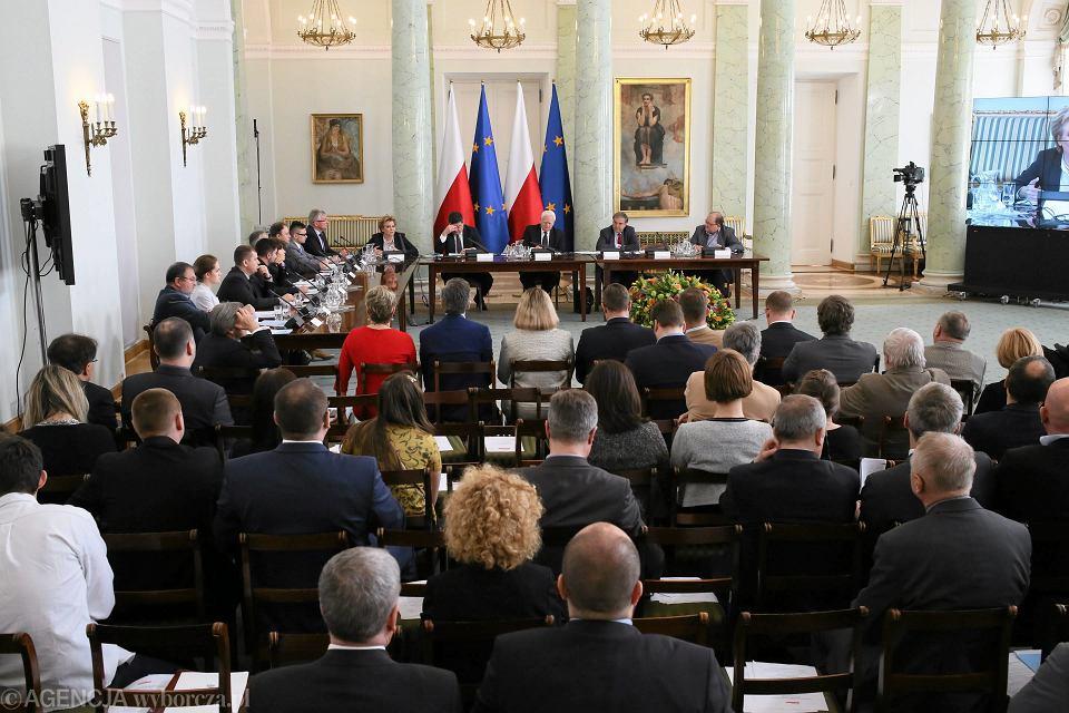 Konferencja - podsumowanie akcji Pracownia miast w Pałacu Prezydenckim.