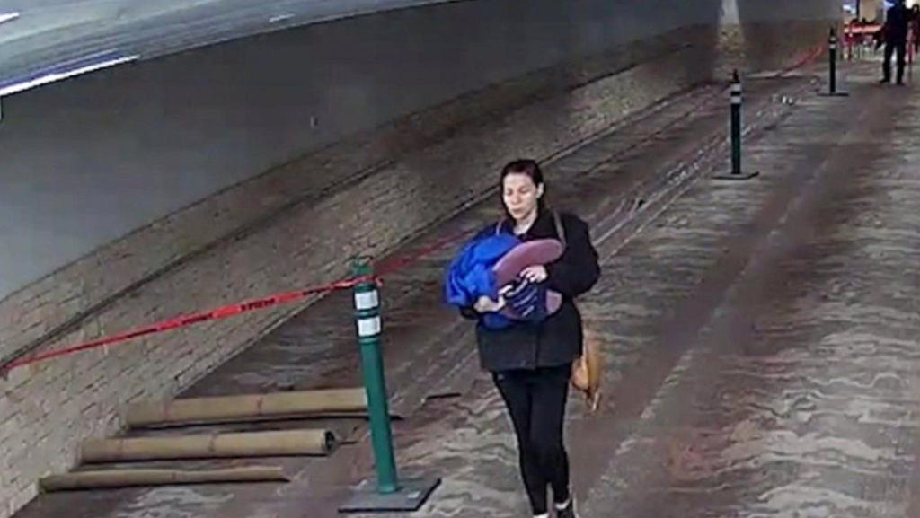 Kobieta porzuciła na lotnisku dziecko