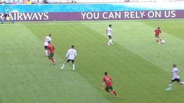 Akcja Portugalii, która dała jej prowadzenie w meczu z Niemcami