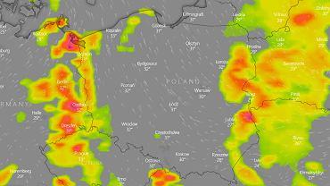 Burze w Polsce - niedziela 20 czerwca