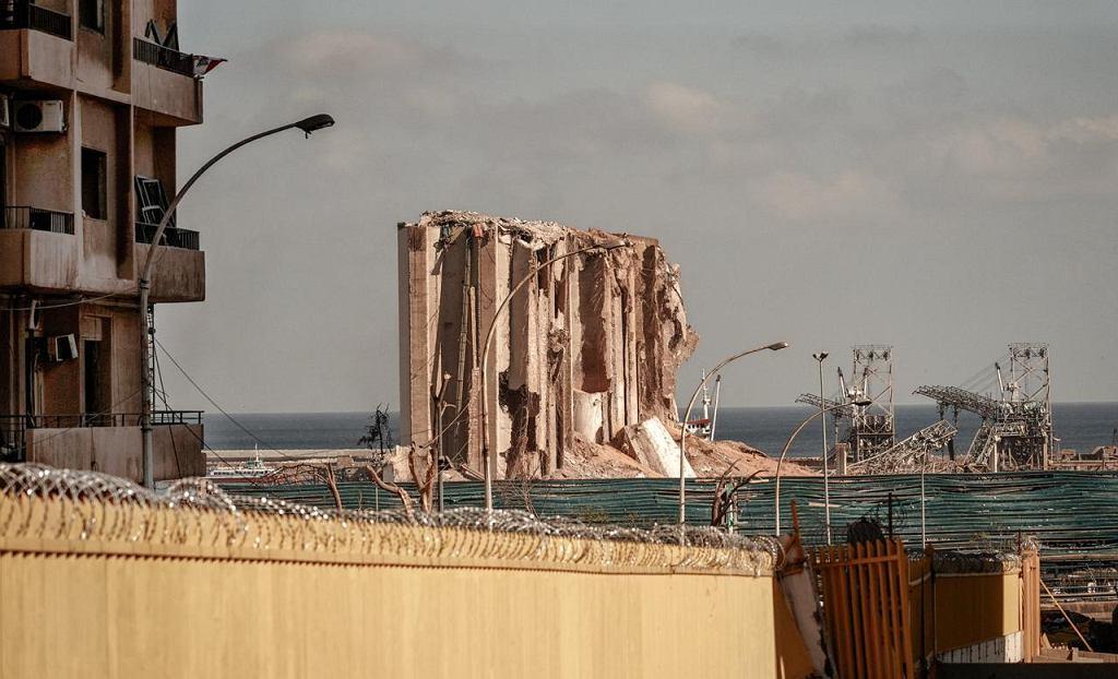 Bejrut po eksplozji saletry amonowej w porcie
