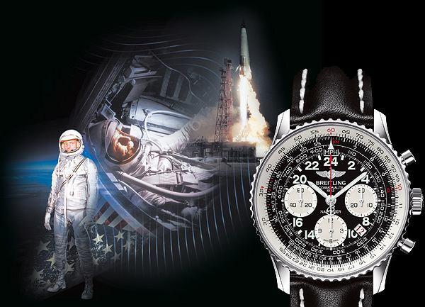 24 maja 1962r. Scott Carpenter trzykrotnie okrążył Ziemię z zegarkiem  Breitling Navitimer na nadgarstku