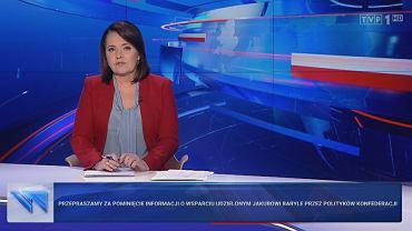 'Wiadomości' TVP z 10 października 2019 roku