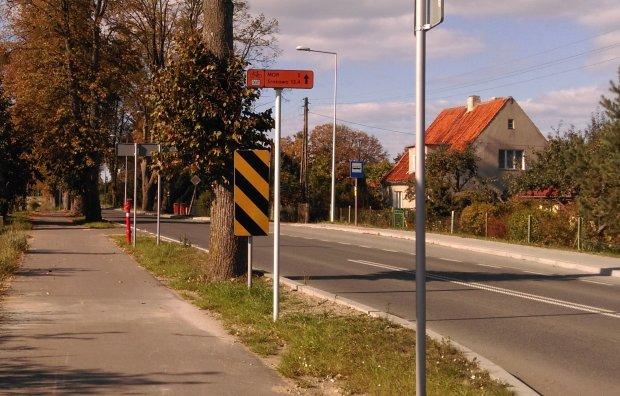 Znak informujący o odległościach