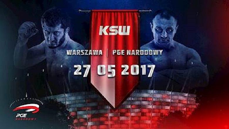 Mamed Chalidow i Mariusz Pudzianowski na grafice zapowiadającej KSW na Narodowym