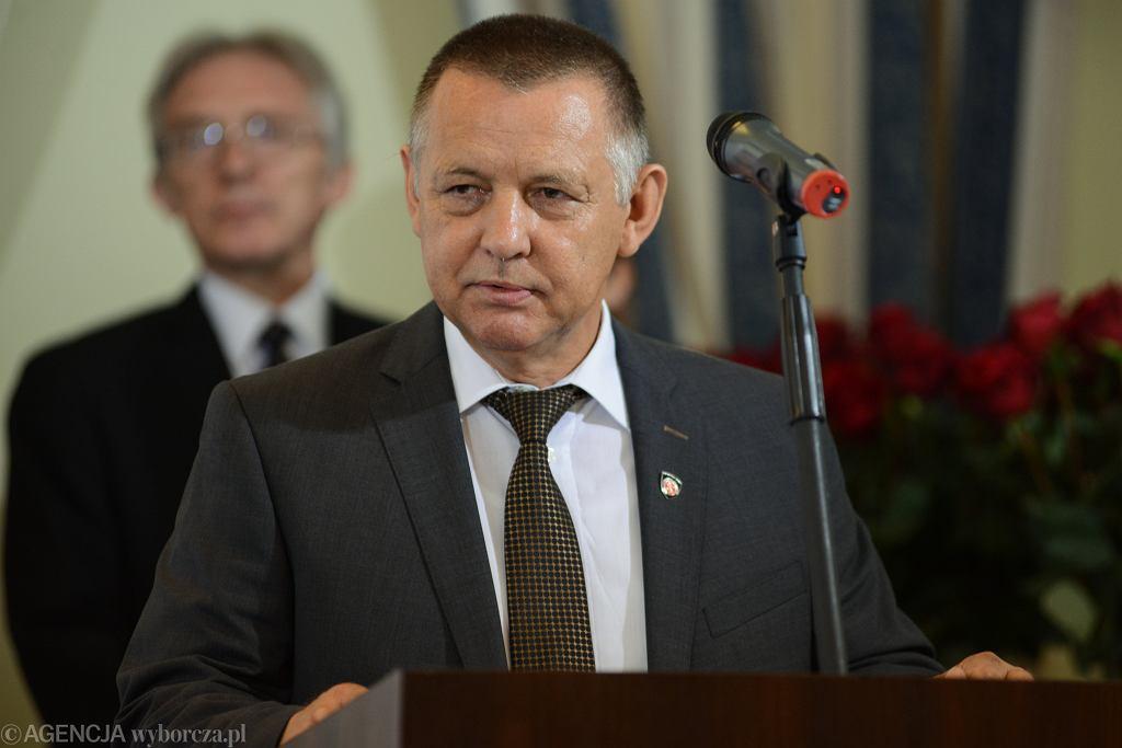 Sekretarz Stanu w Ministerstwie Finansów i szef Krajowej Administracji Skarbowej Marian Banaś, 2018 r.
